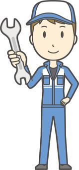 Male mechanic-059-whole body