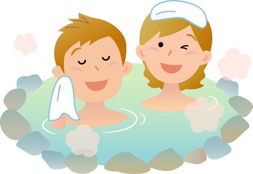 70326. Travelers, mixed bathing