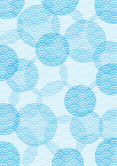 Wave circle _ ground pattern vertical 01 _ blue