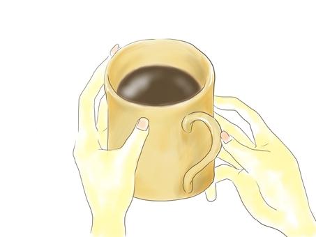 컵을 가진