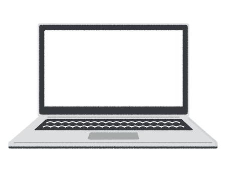 PC PC laptop white screen