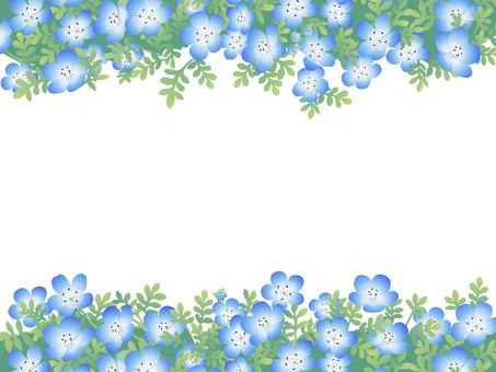 네모 피라의 꽃밭 프레임