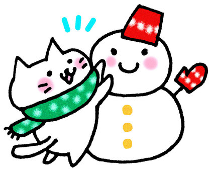 Snow Dalma Cat