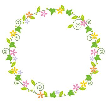 Circular Flower Border Frame
