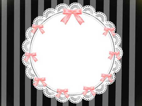 Fashionable ribbon frame black