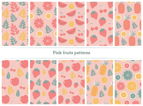 Pink fruit pattern