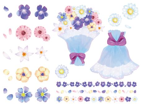 봄 꽃 부케 세트