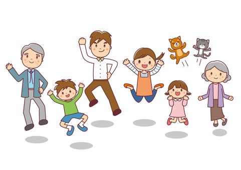 3世代家族&ペット ジャンプ