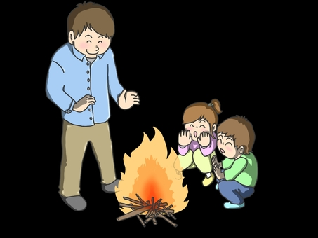 Bonfire (background black)