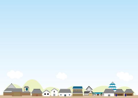Cityscape Background Series Edo Period