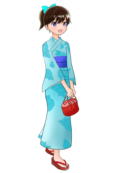 Girl in yukata