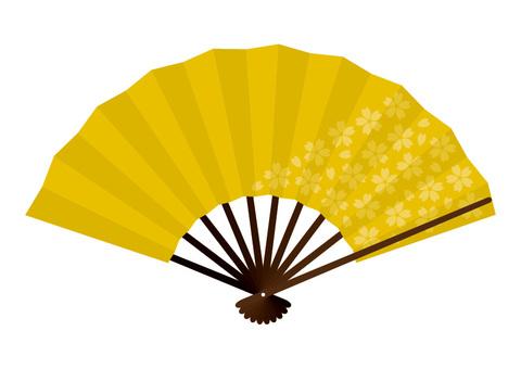 Gold Flower Fan