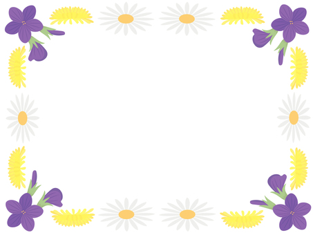Flower frame 2 of April