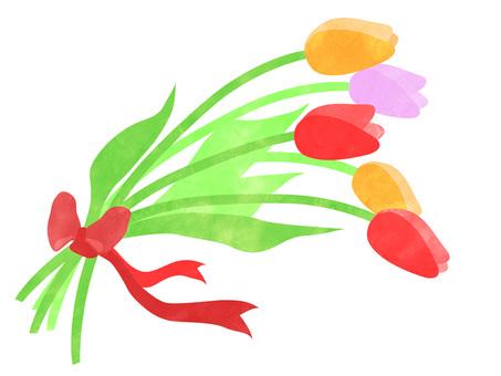 튤립 꽃다발