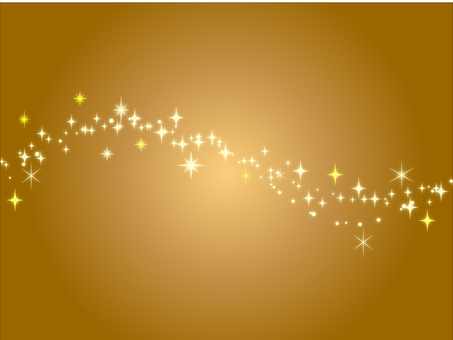Starry glittering background golden