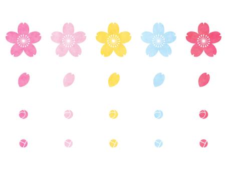 Watercolor Wind - Sakura 04