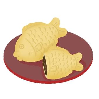 Taniyaki on a plate
