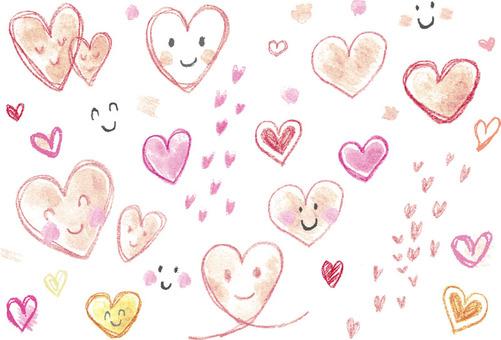 Handwriting - Crayon - Heart 2