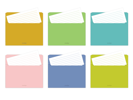 Colorful envelopes and stationery