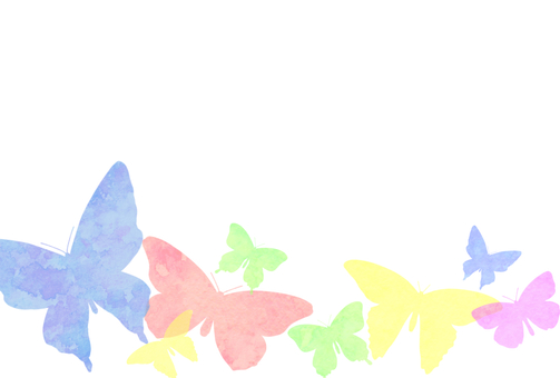 Postcard of colorful watercolor butterfly