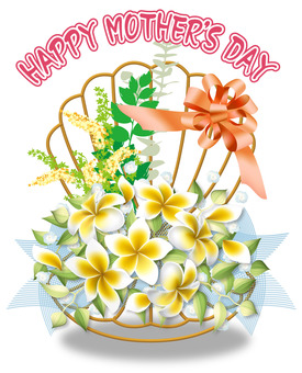 【Mother's Day】 Shells and flowers of wire