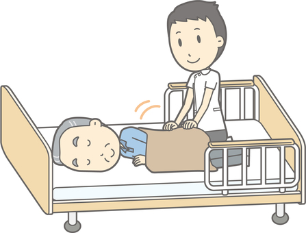 Receive Massage - Elderly 6 Nursing Bed
