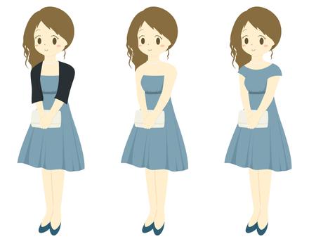 Formal girl _ blue