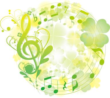 Yellow Green elegant sound symbol Symbol Design frame