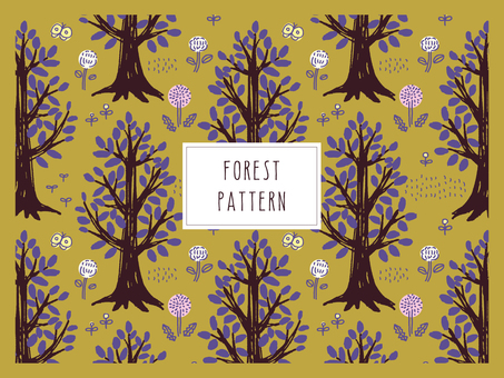 Forest trees pattern _2