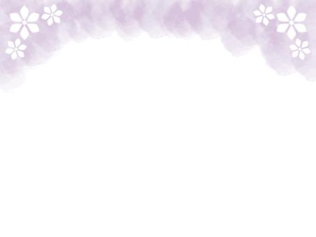 수채화 꽃 프레임