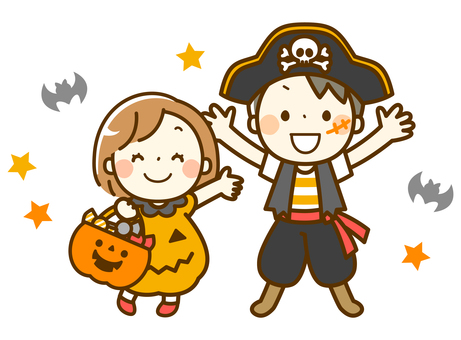 Children enjoying Halloween