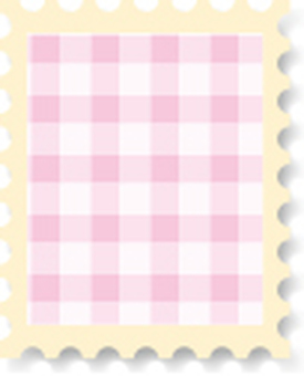 Cute stamp check pink