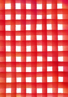Checked pattern of watercolor texture Texture red vertical