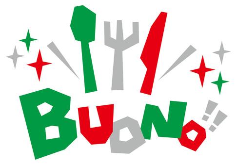 BUONO ☆ 이탈리아어 ☆ 폿뿌로고