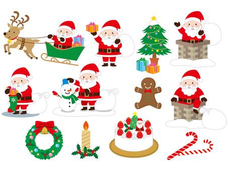 Santa and Christmas variety