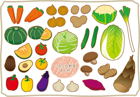 Various vegetables summary
