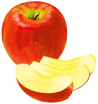 사과 자른 사과