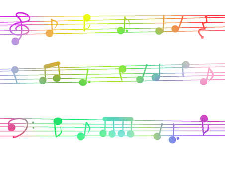Watercolor style Rainbow [Sheet music] Notes