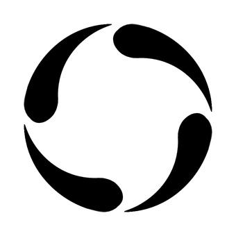 Monochrome vertical circular frame 3