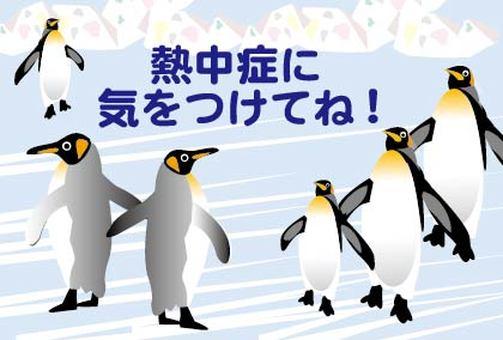 Penguin alarm paste warnings on heat stroke