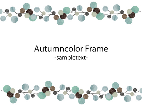 Autumn color frame ver 42