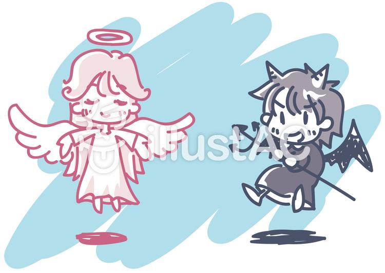 天使と悪魔イラスト No 567740無料イラストならイラストac