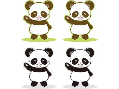 Panda illustration _ 06