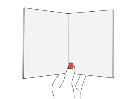 Hand with notebook