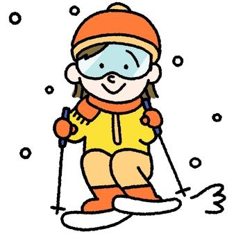 A woman to ski
