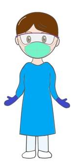 Nurse N95 / Gown / Shield / Gloves