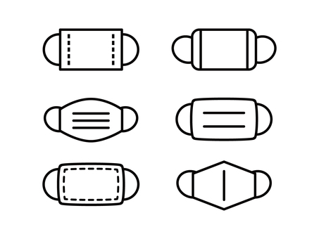 Mask icon set simple