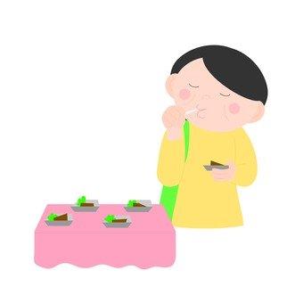 A woman tasting
