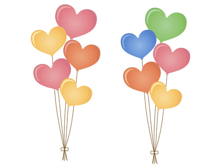 Heart balloons Colorful with straps