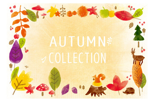 It is autumn collection postcard size